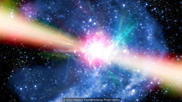 图为脉冲星概念图。
