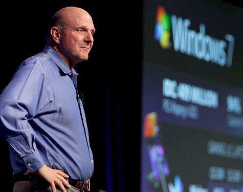 担任微软CEO时的鲍尔默