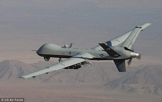 """这款""""死神""""无人机携带有GBU-12铺路Ⅱ激光制导炸弹。"""