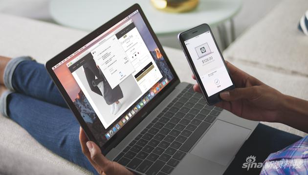 网页版Apple Pay使用示意图