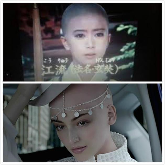 上图为电视剧《西游记》剧照,下图为日产汽车的广告