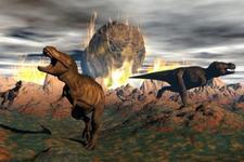 恐龙曾遭遇双重灾难:先遇火山喷发又遭陨石撞击