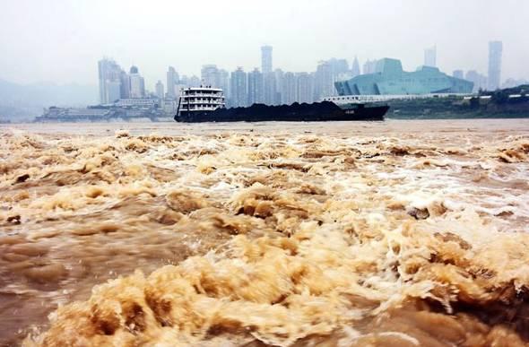 洪涝(图片来源:国际在线)