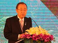 潘基文:可持续发展的全球合作进展可喜 中国贡献非常明显