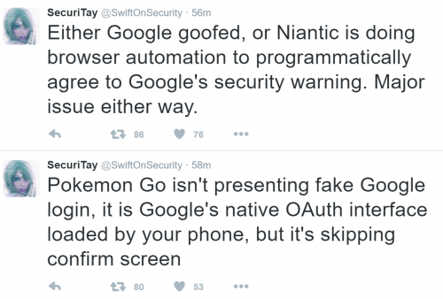 Pokémon Go技术问题尴尬不断 为何要强夺谷歌账号完整权限图片 第4张