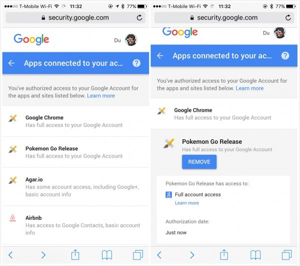 Pokémon Go技术问题尴尬不断 为何要强夺谷歌账号完整权限图片 第1张