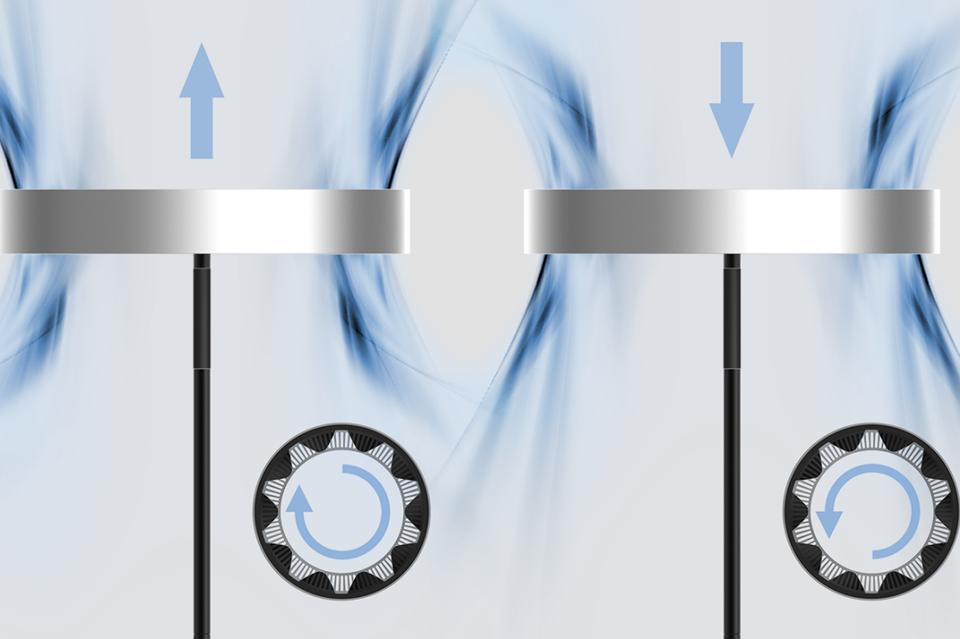 正式向噪音SAYGOODBYE:极简磁悬浮圆环风扇
