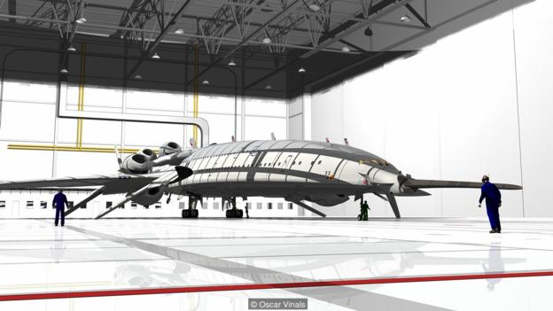 """""""闪光猎鹰""""将能携带250名乘客,以3倍音速飞行。"""