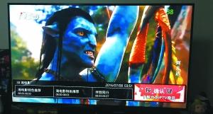 使用IPTV机顶盒既能看电视、电影又能上网。图为用户点播电影《阿凡达》。