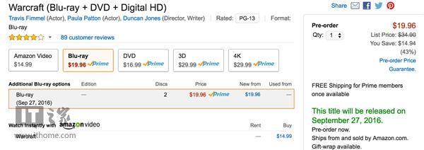 《魔兽》电影蓝光版即将发售:时长达4个小时