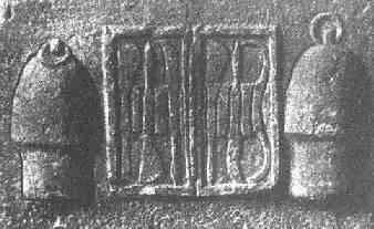 希腊的外科器具。两侧的吸杯似乎显示着这一治疗方面的重要地位。(卡斯蒂廖尼《医学史》,118页)