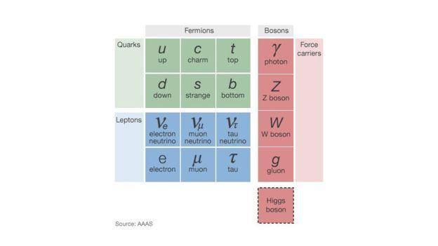 根据标准模型,这些基本粒子组成了我们周围的世界。