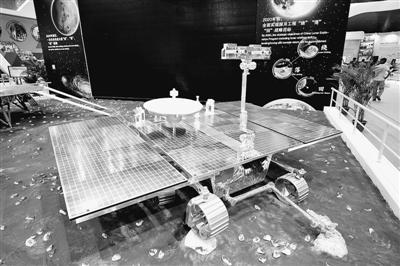 曾在珠海航展展出的火星车模型。(图片来源:人民视觉)