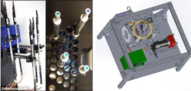 """""""暗能量光谱仪原型""""。这种技术将有助于对可见物质及其聚集组合模式进行更为细致的观测,并对宇宙的膨胀速度进行精确的测量。"""