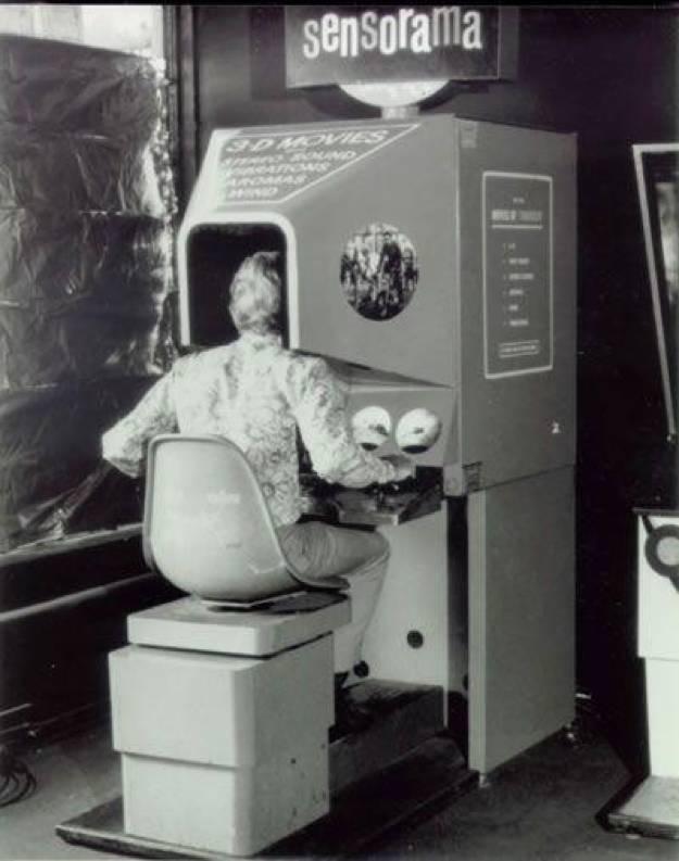 最早的虚拟现实体验机Sensorama。来源:wikipedia