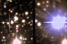 天文学家拍下新星爆炸前后罕见图片:距离约2万光年