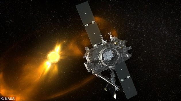 """""""后随空间观测台""""(Stereo-B)是耗资超过5.2亿美元的""""日地关系观测台""""(STEREO)探测项目的一部分,它在2014年10月突然失去联系"""