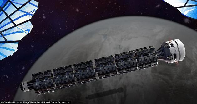 疯狂的太空火车概念设计:秒速3000公里37小时抵达火星