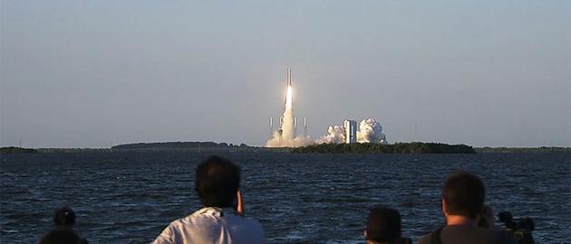 北京时间9月9日上午7:05,OSIRIS-Rex探测器从美国佛罗里达州卡纳维拉尔角空军基地发射升空