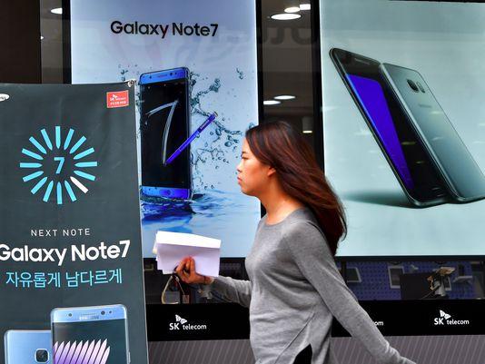 三星Note 7手机户外宣传广告