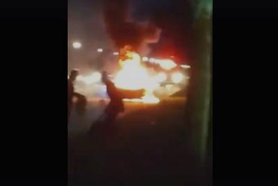 三星Note7再出爆炸事故:汽车自燃,现场凶险