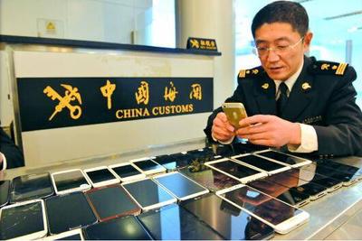 深圳海关查获400台走私手机 案值超300万元