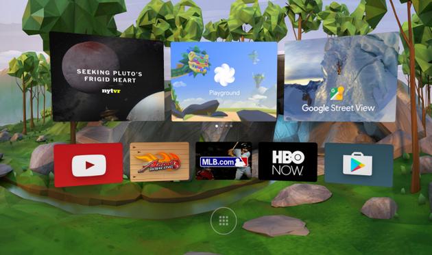 谷歌Daydream虚拟现实平台界面