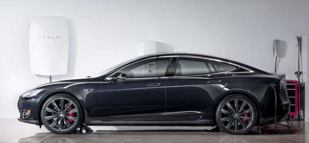 特斯拉Model S与Powerwall电池组