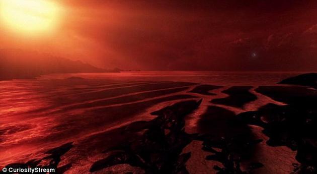 霍金指出,由于阳光的影响,该星球上的植物叶片可能是黑色和紫色的。在这个遥远的世界中,温度可能和地球差不多,还有着充足的液态水和智慧生物。