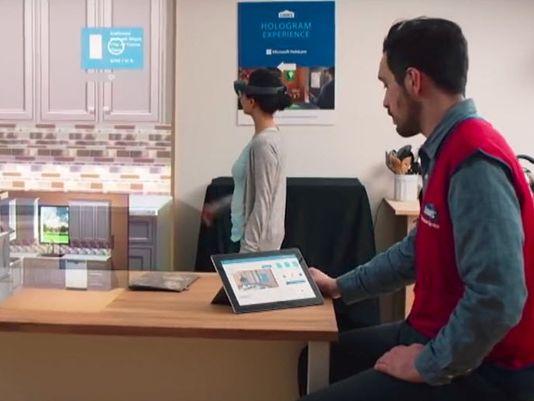 劳氏公司门店用HoloLens给用户展示家装