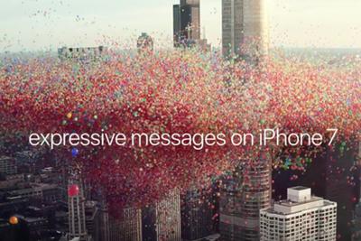 苹果发布最新iPhone 7广告 亮点在气球