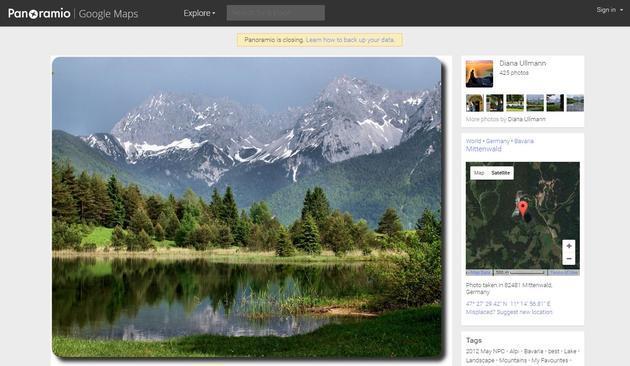 谷歌将于11月4日关闭照片分享服务Panoramio
