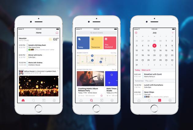 Facebook推出Events应用 帮用户找到有趣活动