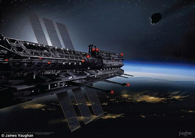 """""""太空国家""""听起来似乎是一个直接从科幻小说中拿出来的概念,但这也许很快就能成为现实。至少,一个国际科学家团队已经提出了相关计划。上图为艺术家的概念图。研究团队宣称,他们已经开始这个项目,并将其称为""""Asgardia"""",明年还将发射一颗卫星。"""