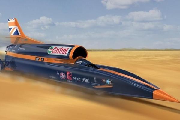 英国超音速汽车冲击世界记录:时速1610公里轮胎受得了吗?