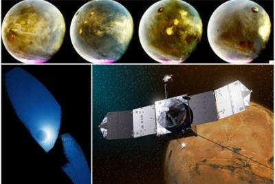 NASA无人宇宙飞船摄奇景:火星夜间发亮丽光芒