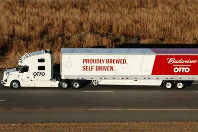 Uber自动驾驶卡车成功送出第一单 跑了120英里挣了470美元