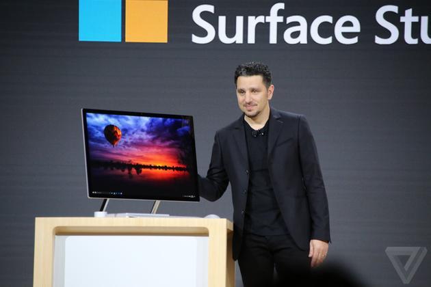 微软发布Surface Studio一体机 剑指iMac