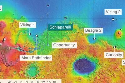 美宇航局发布斯恰帕拉利火星探测器坠毁地高清图像