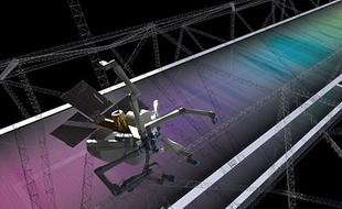 美研发机器蜘蛛太空中3D打印卫星