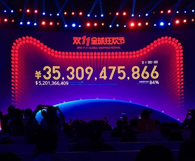 开场一小时 2016天猫双11全球狂欢节交易额超362亿