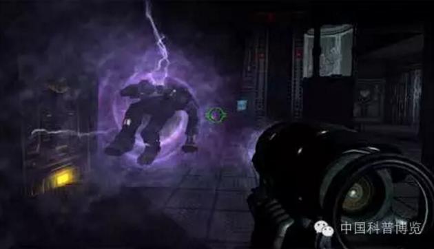 """▲关于暗物质的""""传说"""":""""暗物质枪""""是电脑游戏《雷神之锤4》中最强大的武器。"""