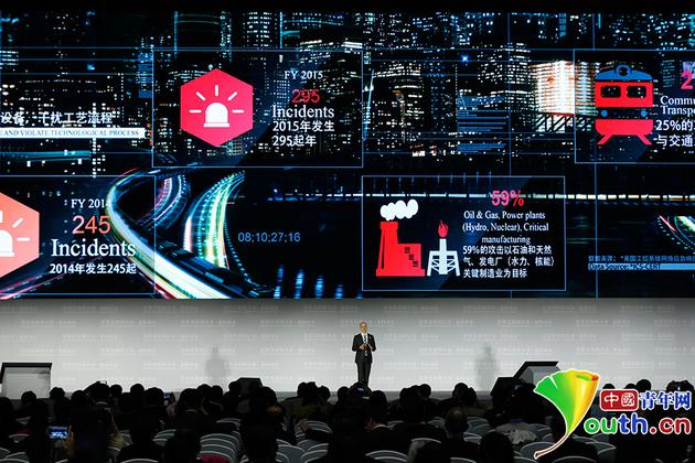 """11月16日,""""卡巴斯基工控安全平台2016""""亮相领先科技成果发布会。 中国青年网记者 张炎良 摄"""