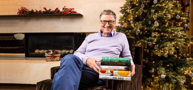 比尔·盖茨公布2016年个人最爱书籍的照片