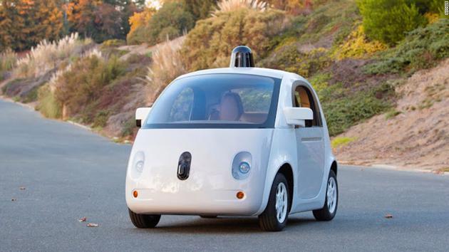 """谷歌无人驾驶原型车""""萤火虫"""""""