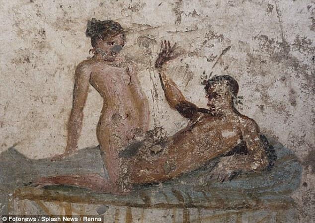 """考古发现庞贝千年妓院:壁画上演""""五十度灰"""""""