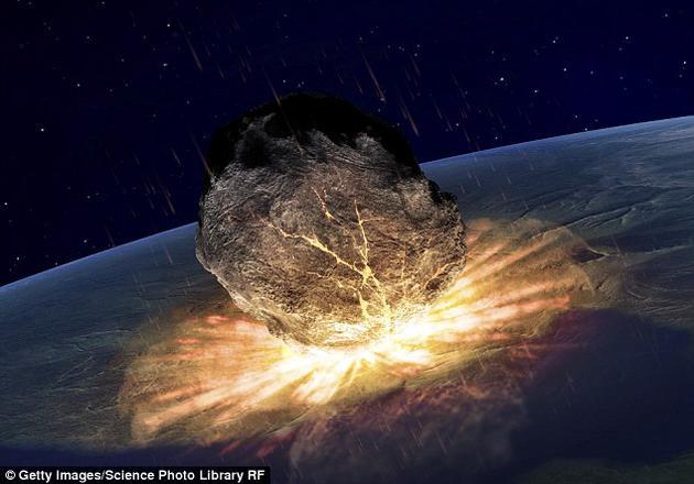 白宫近期发布了一项官方报告,论述了美国政府应对小天体潜在撞击风险的计划。图为艺术示意图:撞击地球的小行星
