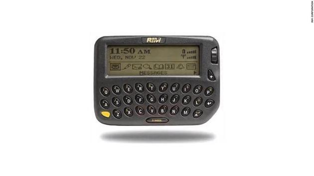 18年前黑莓推出首款产品