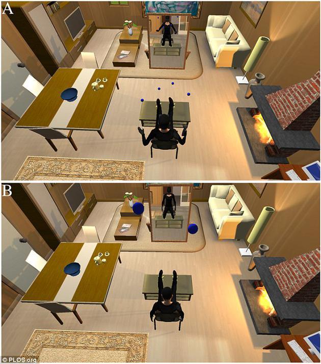 此次虚拟现实实验与一些濒死体验十分相似。