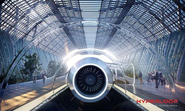 捷克布尔诺市的超级高铁系统想象图